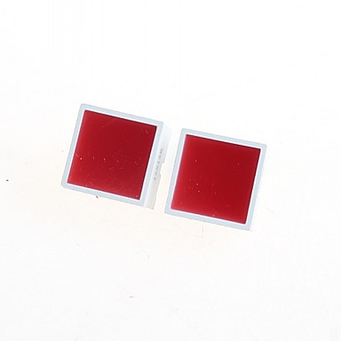 Wholesale 15 * 15MM Red Flat Tube(2pcs)
