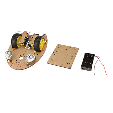 Wholesale DIY Arrow Shape 2WD Smart Car Chassis Module-Transparent Brown