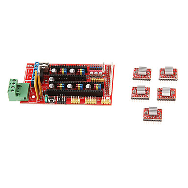 Wholesale 3D Printer Kit RAMPS 1.4 Control Board 4988 Driver With Heat Sink