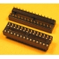 "Wholesale 28 Pin Narrow IC Socket Dual Wipe Type 0.1"" Pitch 0.3"" Row 17pcs/tube"