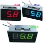 Wholesale DC 0-99V Digital Panel Voltmeter Red/Blue/Green for Choice